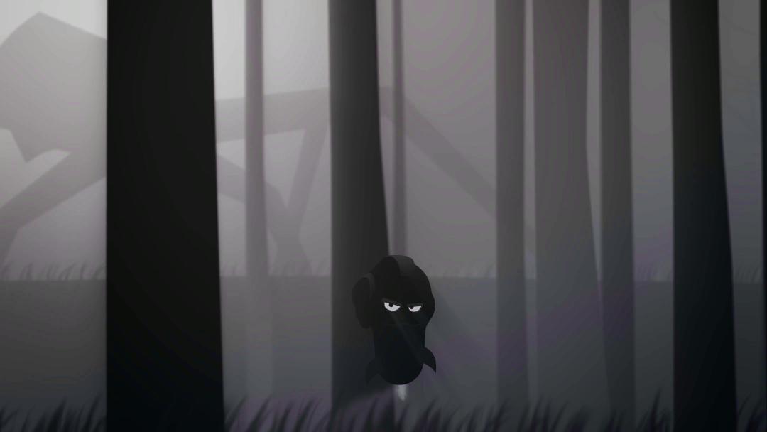 Schwarz weiß Wald
