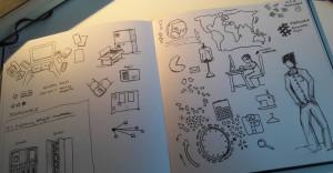 Skizzen für Storyboard